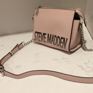 Pink Steve Madden cross-body purse